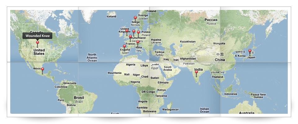 Global Ceremony Sites